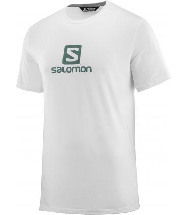 Camiseta Salomon MC Coton Logo SS Tee Hombre Blanco