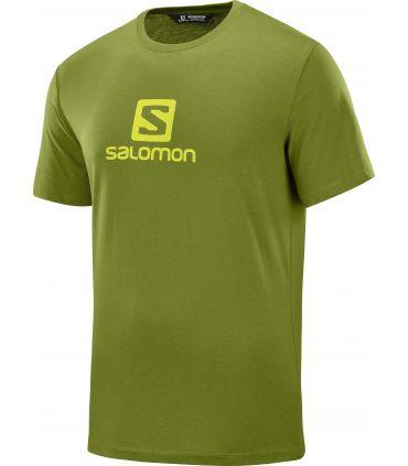 Camiseta Salomon MC Coton Logo SS Tee Hombre Avocado