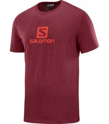 Camiseta Salomon MC Coton Logo SS Tee Hombre Biking Red
