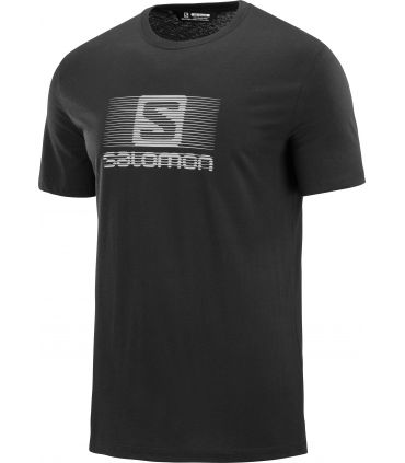 Camiseta Salomon MC Blend Logo SS Tee Hombre Negro