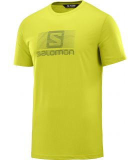 Camiseta Salomon MC Blend Logo SS Tee Hombre Citronel
