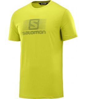 Camiseta Salomon MC Blend Logo SS Tee Hombre Citronel. Oferta y Comprar online