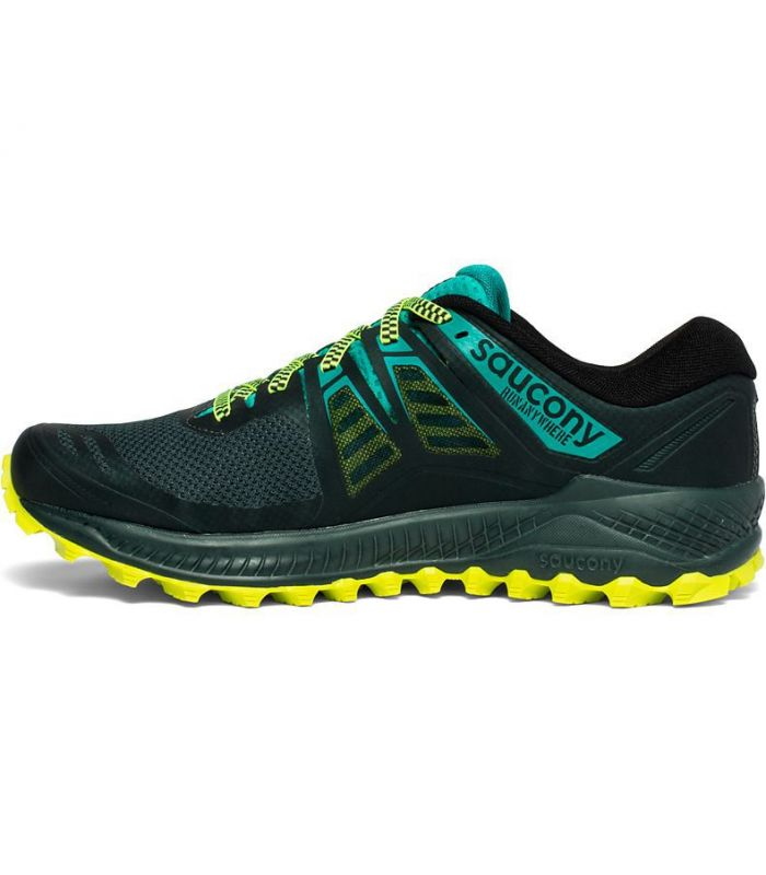 Compra online Zapatillas Saucony Peregrine ISO Hombre Verde en oferta al mejor precio