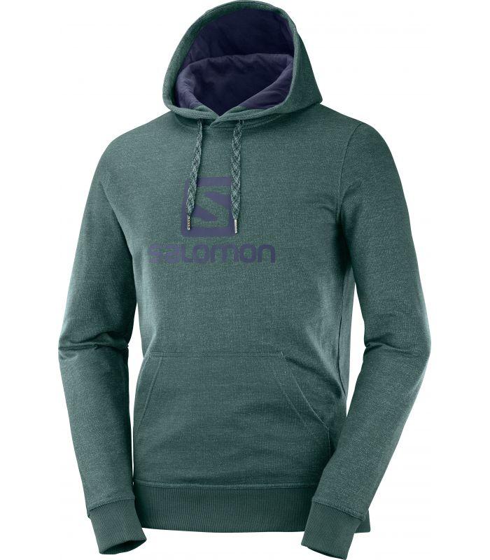 Compra online Sudadera Salomon Logo Hoodie Hombre Green Gables en oferta al mejor precio