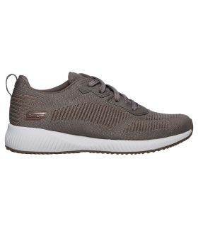 Zapatillas Skechers Bobs Squad Glam League Mujer Taupe