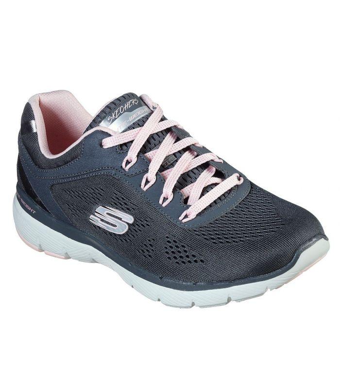 Compra online Zapatillas Skechers Flex Appeal 3.0 Moving Fast Mujer Charcoal Rosa en oferta al mejor precio