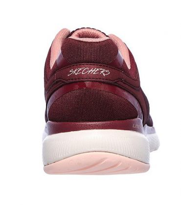 Zapatillas Skechers Flex Appeal 3.0 Moving Fast Mujer Burgundy Rosa