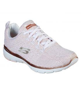 Zapatillas Skechers Flex Appeal 3.0 Mujer White Rose
