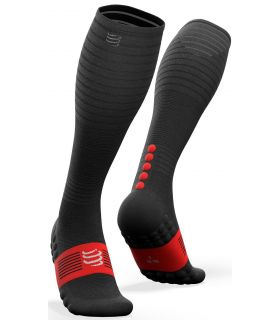 Calcetines Compressport Full Socks Oxygen Negro
