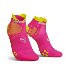 Calcetines Running Compressport Pro Racing Socks V3.0 Low Rosa. Oferta y Comprar online