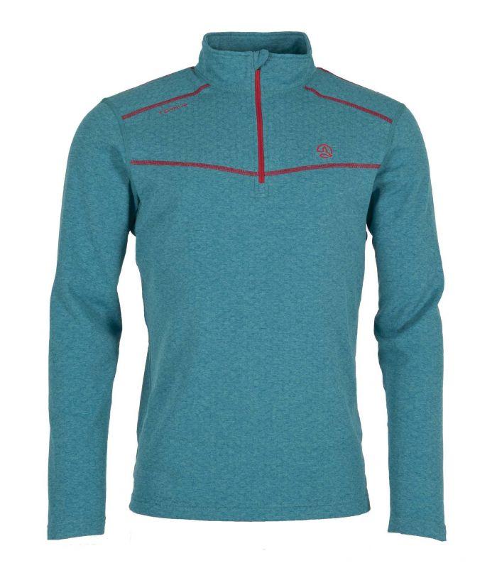 Compra online Camiseta Ternua Talok 1/2 Zip Hombre Pagoda Blue en oferta al mejor precio