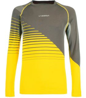 Camiseta La Sportiva Artic Long Sleeve Hombre Carbón Amarillo