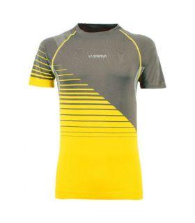 Camiseta La Sportiva Complex Hombre Carbón Amarillo. Oferta y Comprar online