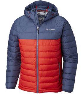 Chaqueta Columbia Powder Lite Hooded Hombre Montaña Roja Armada Colegial. Oferta y Comprar online