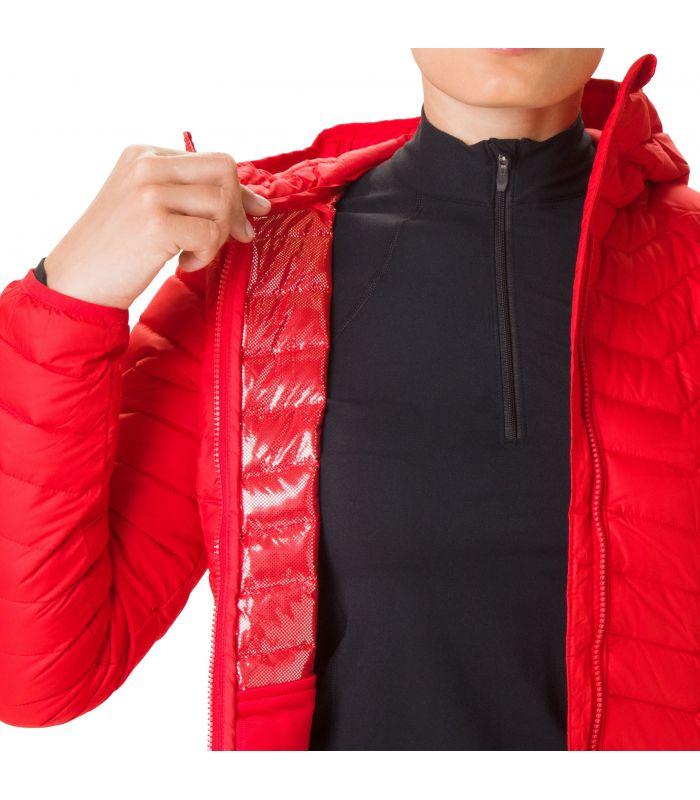 Compra online Chaqueta Columbia Powder Lite Hooded Mujer Lirio rojo en oferta al mejor precio