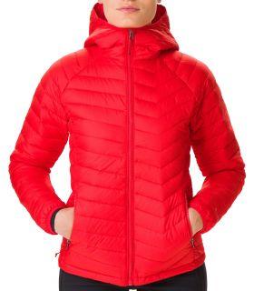 Chaqueta Columbia Powder Lite Hooded Mujer Lirio rojo. Oferta y Comprar online
