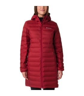 Chaqueta Columbia Lake 22 Down Long Hooded Jacket Mujer Rojo. Oferta y Comprar online