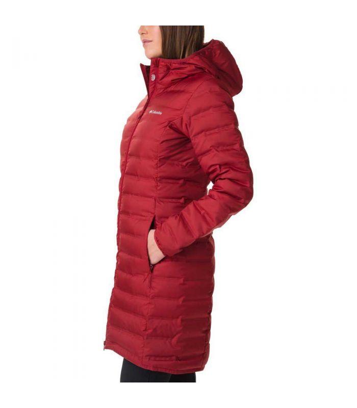 Compra online Chaqueta Columbia Lake 22 Down Long Hooded Jacket Mujer Rojo en oferta al mejor precio