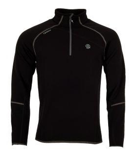 Camiseta Ternua Magik 1/2 Zip Hombre Black. Oferta y Comprar online