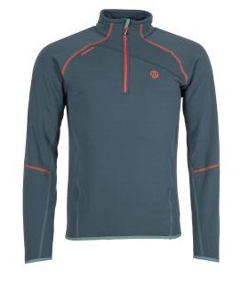 Camiseta Ternua Magik 1/2 Zip Hombre Dark Lagoon. Oferta y Comprar online