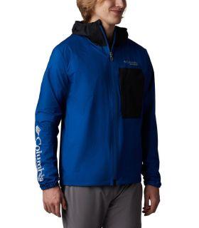 Chaqueta Columbia Rogue Runner Wind Jacket Hombre Azul. Oferta y Comprar online