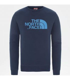 Sudadera The North Face Drew Peak Crew Hombre Blue Wing. Oferta y Comprar online