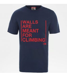 Camiseta The North Face SS Walls Climb Hombre Blue