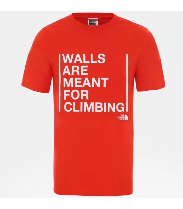 Camiseta The North Face SS Walls Climb Fiery Red