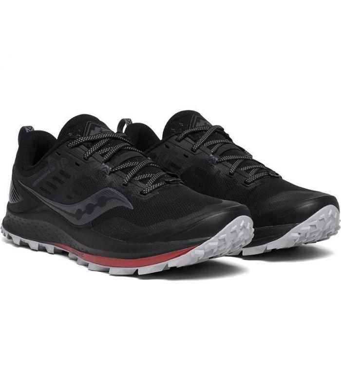 Compra online Zapatillas Saucony Peregrine 10 Hombre Black Red en oferta al mejor precio