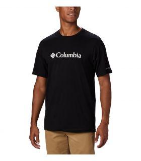Camiseta Columbia CSC Basic Logo Hombre Negro Blanco. Oferta y Comprar online