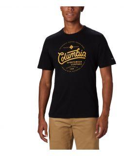 Camiseta Columbia M Path Lake Graphic Hombre Negro. Oferta y Comprar online