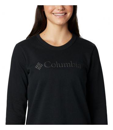 Sudadera Columbia Logo Crew Mujer Negro