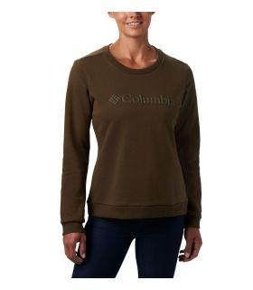Sudadera Columbia Logo Crew Mujer Olive. Oferta y Comprar online