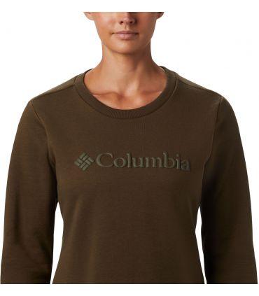 Sudadera Columbia Logo Crew Mujer Olive