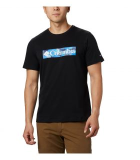 Camiseta Columbia M Rapid Ridge Graphic Hombre Negro