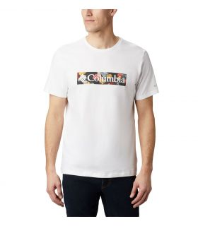 Camiseta Columbia M Rapid Ridge Graphic Hombre White
