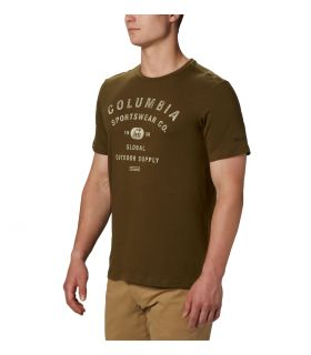 Camiseta Columbia M Path Lake Graphic Hombre Olive