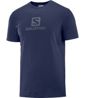 Camiseta Salomon MC Coton Logo SS Tee Hombre Night Sk