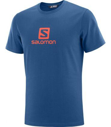 Camiseta Salomon MC Coton Logo SS Tee Hombre Poseidon