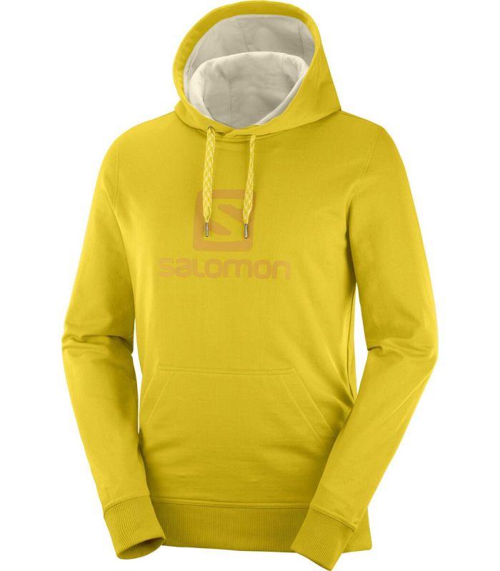 Compra online Sudadera Salomon Logo Hoodie Hombre Lemon Curry en oferta al mejor precio