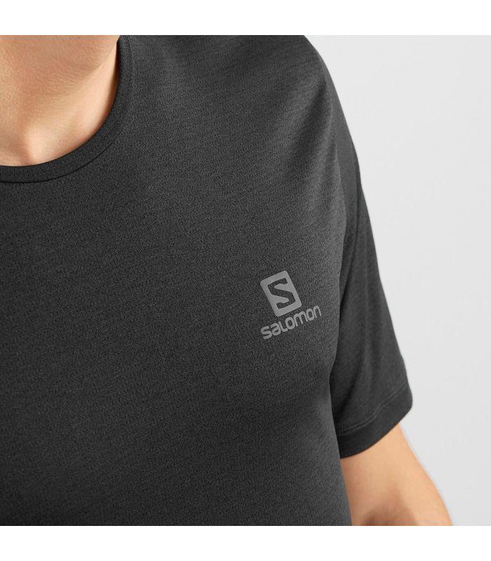 Compra online Camiseta Salomon MC Agile Training Tee Hombre Negro en oferta al mejor precio