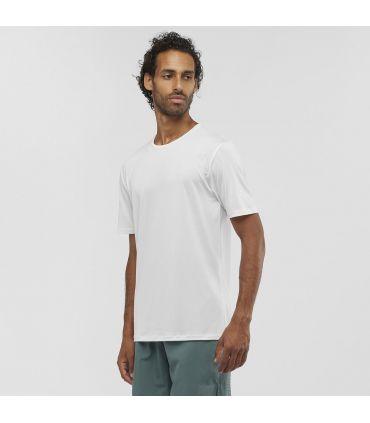 Camiseta Salomon MC Agile Training Tee Hombre Blanco