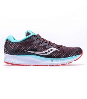 Saucony Ride ISO 2 Marrón chocolate Mujer