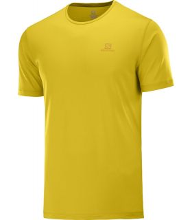 Camiseta Salomon MC Agile Training Tee Hombre Lemon Curry