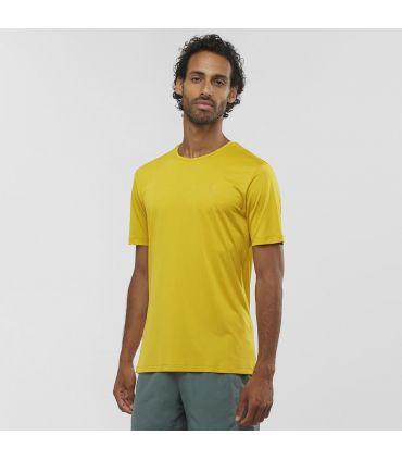 Camiseta Salomon MC Agile Training Tee Hombre Lemon Curry