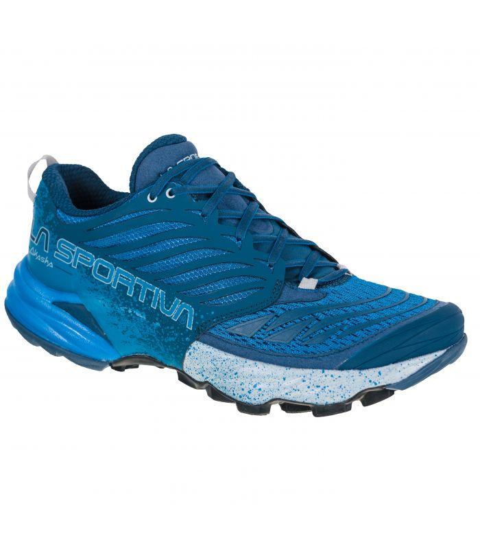 Compra online Zapatillas La Sportiva Akasha azul-blanco Hombre en oferta al mejor precio