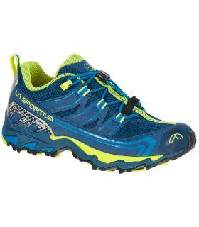 Zapatillas La Sportiva Falkon Low 27-35 Azul-Amarillo Niños. Oferta y Comprar online