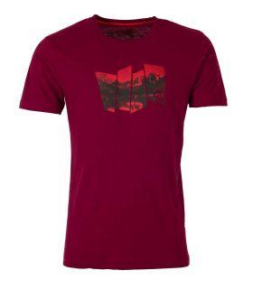 Camiseta Ternua Tausug Hombre Burgundy. Oferta y Comprar online