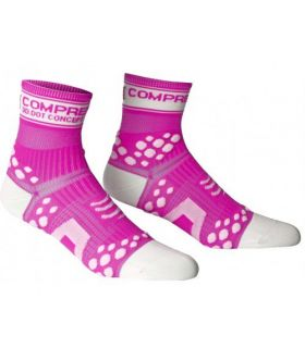Calcetines Compresión Compressport Pro Racing Socks Fluo V2