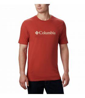 Camiseta Columbia CSC Basic Logo Hombre Carnelian